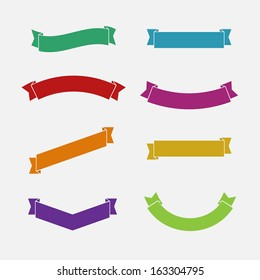 Simple flat Ribbons set