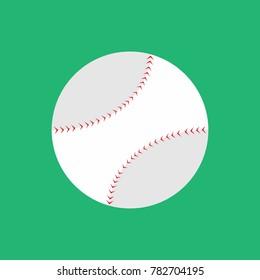 Simple Flat Style Baseball Vector Illustration Graphic Design