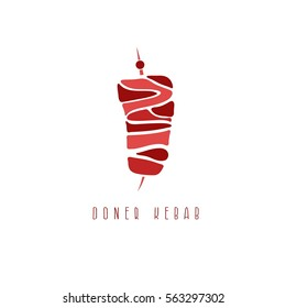 simple flat vector illustration of doner kebab