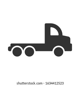 Simple flatbed truck silhouette icon