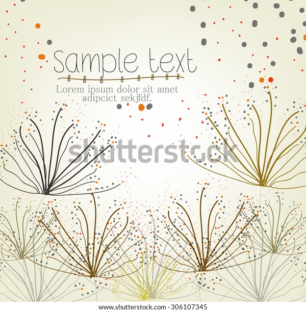 Simple Flower Background Invitation Card Stock Vector