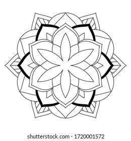 simple flower coloring mandala art