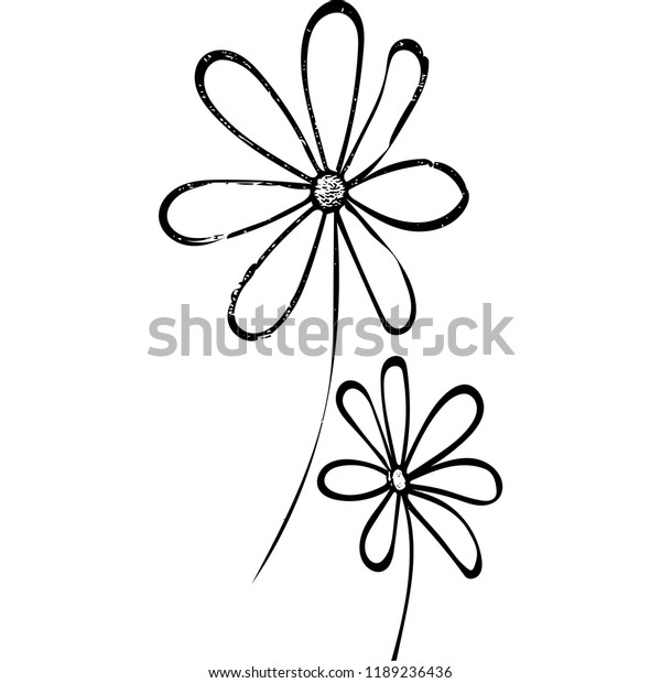 Simple flowers (vector)
