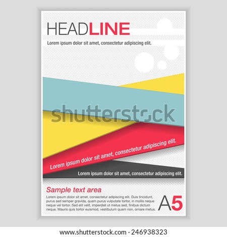 simple flyer template brochure color ribbons stock vector royalty