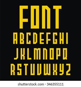 Decorative Alphabet Simple Fonts Design Vector Illustration