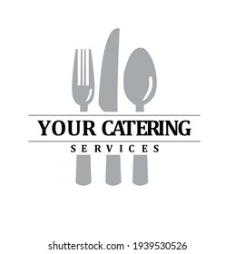 simple food catering cutlery business logo
