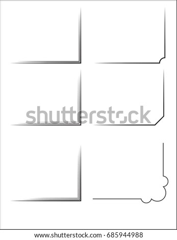 Simple Frame Corners Shadings Framework Stock Vector (Royalty Free ...