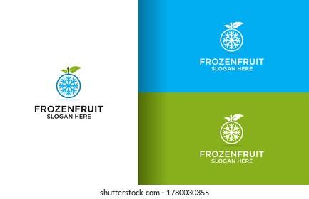Simple Fruit Frozen Logo Design vector