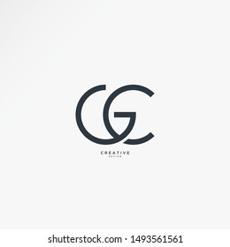 Simple GC logo with elegant line art concept. vectors can be edited easily according to their needs and desires.