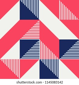 Simple geometric artwork with editable bold blocks. Scandinavian style. Universal abstract seamless pattern for wallpaper, web or prints cover, textile, ceramic tile etc.
