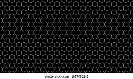 simple geometric background with hexagonal cell texture, honeycomb grid seamless pattern, vector illustration with honey hexagon cells