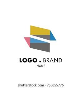 Simple Geometric Corporate Logo Design