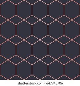 Simple geometric pattern. Endless. Seamless Pattern.  Vector Lines. Trendy Copper Look.