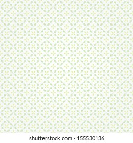 Simple geometric pattern. Seamless vector background. White  and green texture.