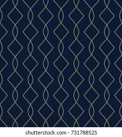 Simple geometric pattern. Vintage oriental lattice golden ornament. Seamless arabesque background. Decorative printing block. Home textile, wallpaper, phone case, fabric cloth, paper all over design.
