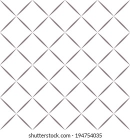 Simple geometric seamless pattern of diamonds