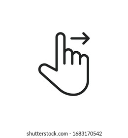 Simple gesture line icon. Stroke pictogram. Vector illustration isolated on a white background. Premium quality symbol. Vector sign for mobile app and web sites.