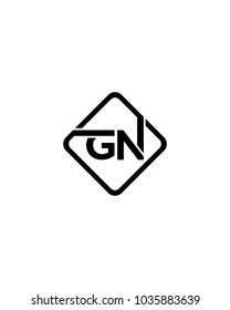 Simple GN initial Logo design template vector illustration
