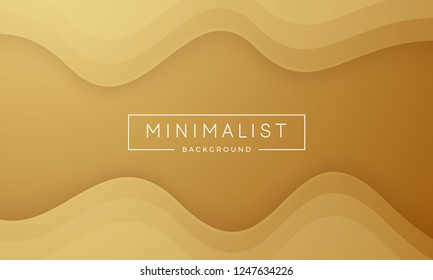 Simple gold texture background. Dynamic 3D background minimal modern concept.
