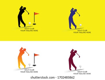 Simple Golf sport banners with players Vector commercial use