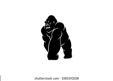 Simple Gorilla Vector