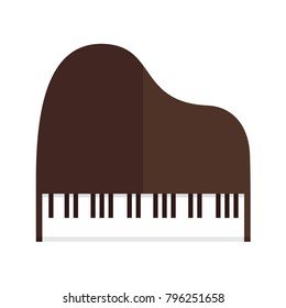 Simple Grand Piano Top View Vector Illustration Graphic