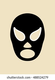Simple graphic of a mexican wrestler mask