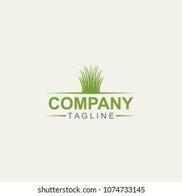 Simple Grass Logo Design Template