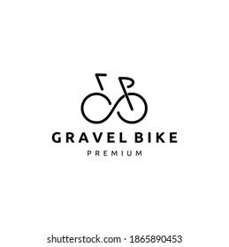 Simple Gravel Bicycle Icon Logo Design Vector