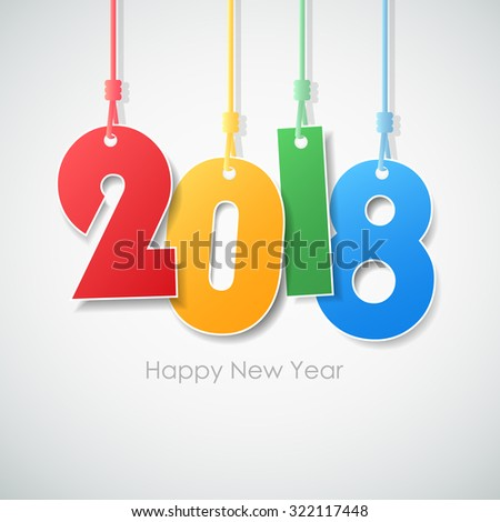 Simple Greeting Card Happy New Year Stock Vector Royalty Free