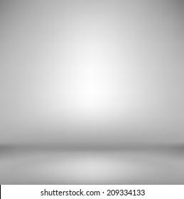 Simple grey empty photostudio.