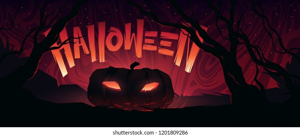 Simple Halloween illustration