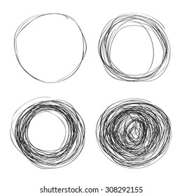 Simple hand drawn doodle of a circle