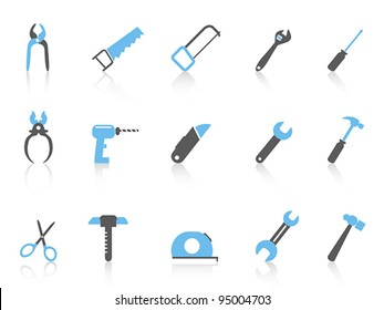 simple hand tool icons,color series