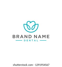 simple healty dental logo design