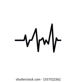 Simple heart beat line icon. Stroke pictogram. Vector illustration isolated on a white background. Premium quality symbol. Vector sign for mobile app and web sites.