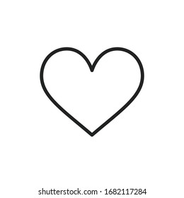 Simple heart line icon. Stroke pictogram. Vector illustration isolated on a white background. Premium quality symbol. Vector sign for mobile app and web sites.