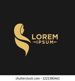 simple hijab logo icon designs vector