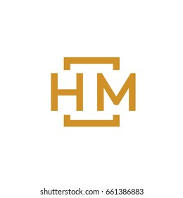 Simple HM initial Logo designs template vector illustration