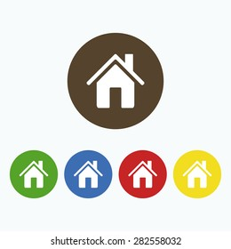 Simple home page icon in the form of the house.