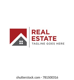 simple home real estate logo icon vector