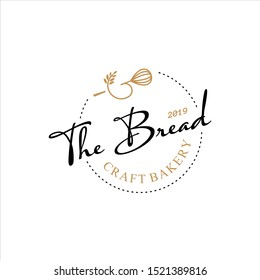 Simple Homemade Bakery Logo Badge Template. Organic Bread Shop Vector and Label Design Inspiration