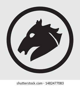 Simple Horse silhouette flat vector icon