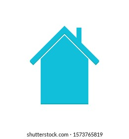 Simple House Icon Vector Blue Colour On White Background. Flat Icon For Web, Apps, Or Design Product EPS10.