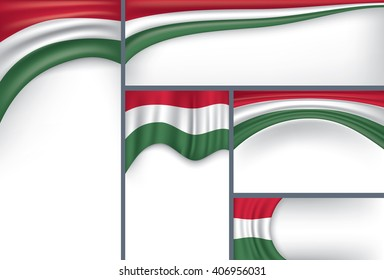 Simple Hungary Flag, Collection (Vector Art)