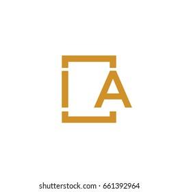 Simple IA initial Logo designs template vector illustration