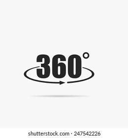 Simple icon 360 degrees.