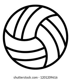 A simple icon design of a volleyball