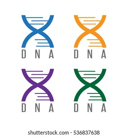 simple icon DNA spiral vector design template