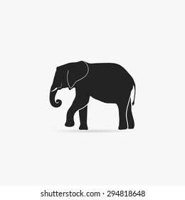 Simple icon elephant.